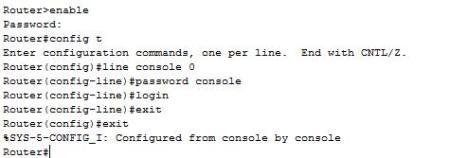 Ρύθμιση password κονσόλας