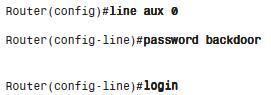 Ρύθμιση password για auxiliary θύρα